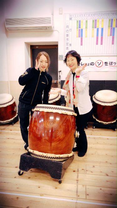 和太鼓を習い始めましたー!